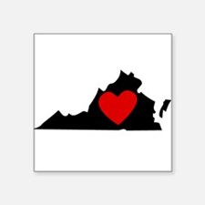 Virginia Heart Sticker