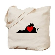 Virginia Heart Tote Bag