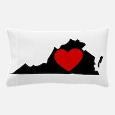 Virginia Heart Pillow Case