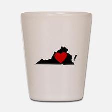 Virginia Heart Shot Glass