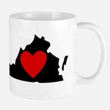 Virginia Heart Mugs