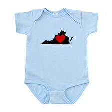 Virginia Heart Body Suit