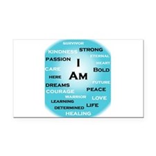 I am Turquoise! Rectangle Car Magnet