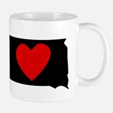 South Dakota Heart Mugs