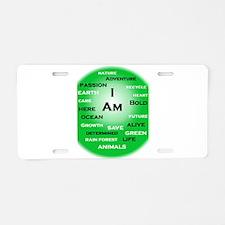 I Am Green! Aluminum License Plate