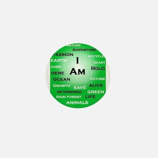 I Am Green! Mini Button (100 pack)