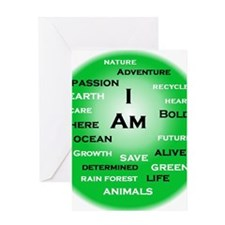 I Am Green! Greeting Cards