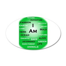 I Am Green! Wall Decal
