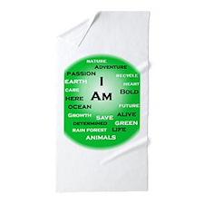 I Am Green! Beach Towel