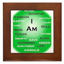 I Am Green! Framed Tile