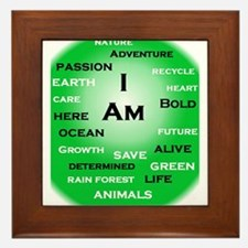 I Am Green! Framed Tile
