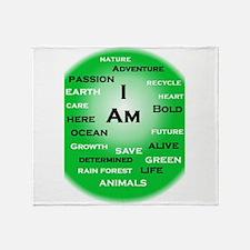 I Am Green! Throw Blanket