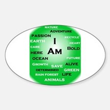 I Am Green! Decal