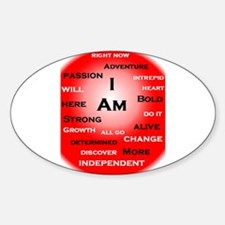 I Am Red! Decal