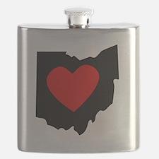 Ohio Heart Flask
