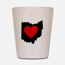 Ohio Heart Shot Glass
