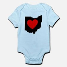 Ohio Heart Body Suit