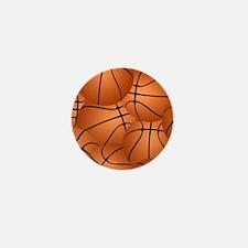Basketball ball pattern Mini Button