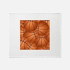 Basketball ball pattern Throw Blanket