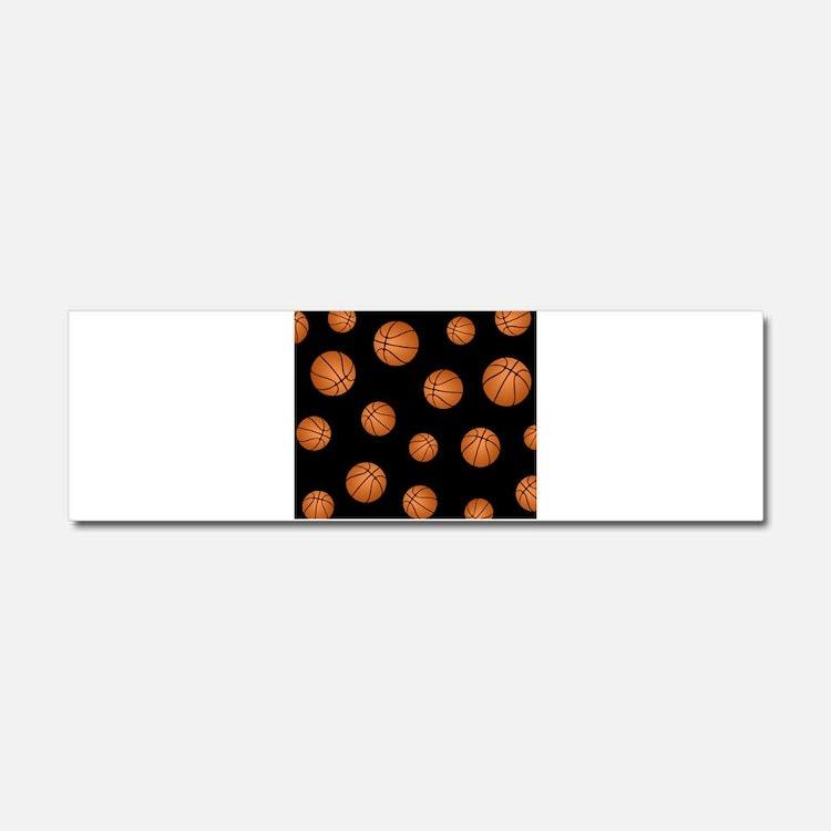Basketball pattern Car Magnet 10 x 3