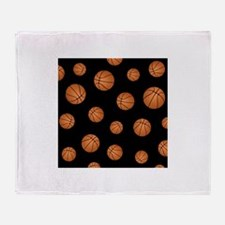 Basketball pattern Throw Blanket