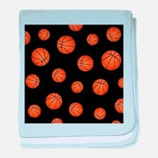 Basketball pattern baby blanket