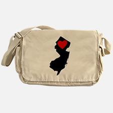 New Jersey Heart Messenger Bag