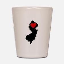 New Jersey Heart Shot Glass