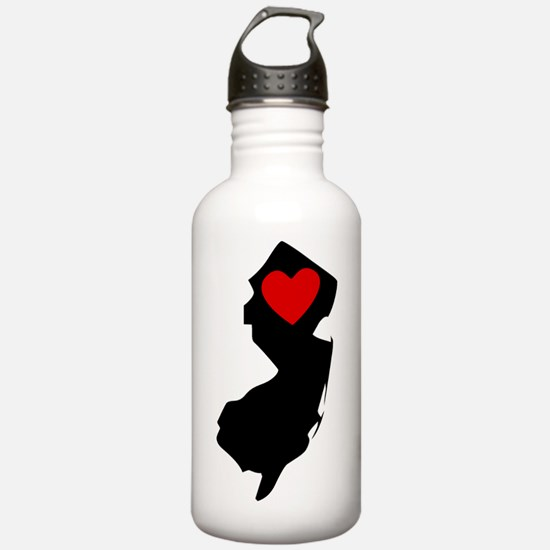 New Jersey Heart Water Bottle