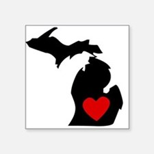 Michigan Heart Sticker