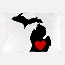 Michigan Heart Pillow Case