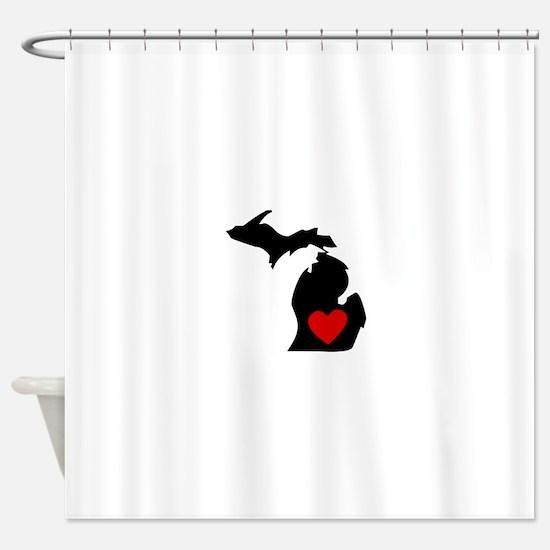 Michigan Heart Shower Curtain