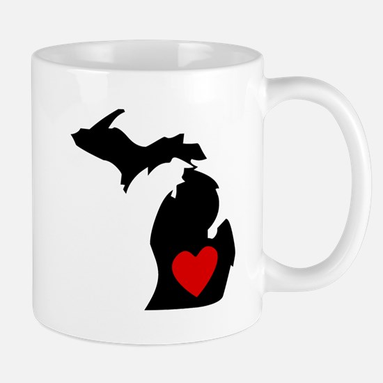 Michigan Heart Mugs