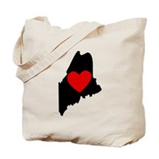 Maine Heart Tote Bag