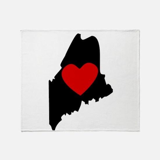 Maine Heart Throw Blanket