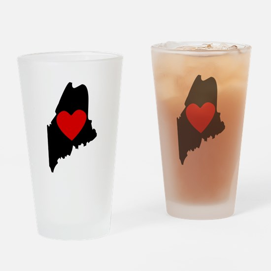 Maine Heart Drinking Glass