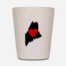 Maine Heart Shot Glass