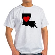 Louisiana Heart T-Shirt