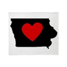Iowa Heart Throw Blanket