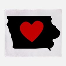 Iowa Heart Throw Blanket