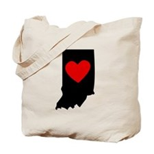 Indiana Heart Tote Bag