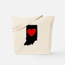 Indiana Heart Tote Bag