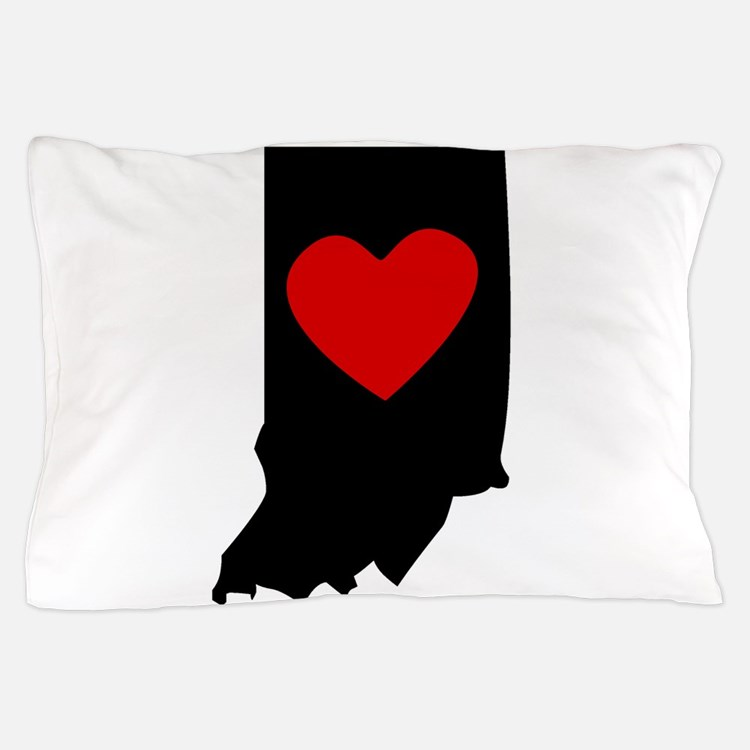 Indiana Heart Pillow Case