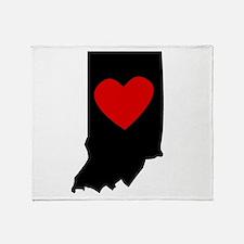 Indiana Heart Throw Blanket