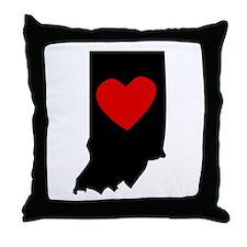 Indiana Heart Throw Pillow