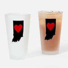 Indiana Heart Drinking Glass