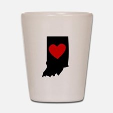 Indiana Heart Shot Glass