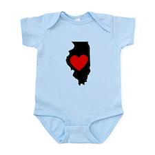 Illinois Heart Body Suit
