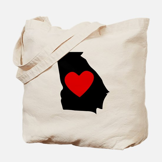 Georgia Heart Tote Bag