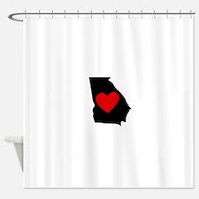 Georgia Heart Shower Curtain